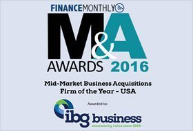 IBG M&A Firm of the Year 2016