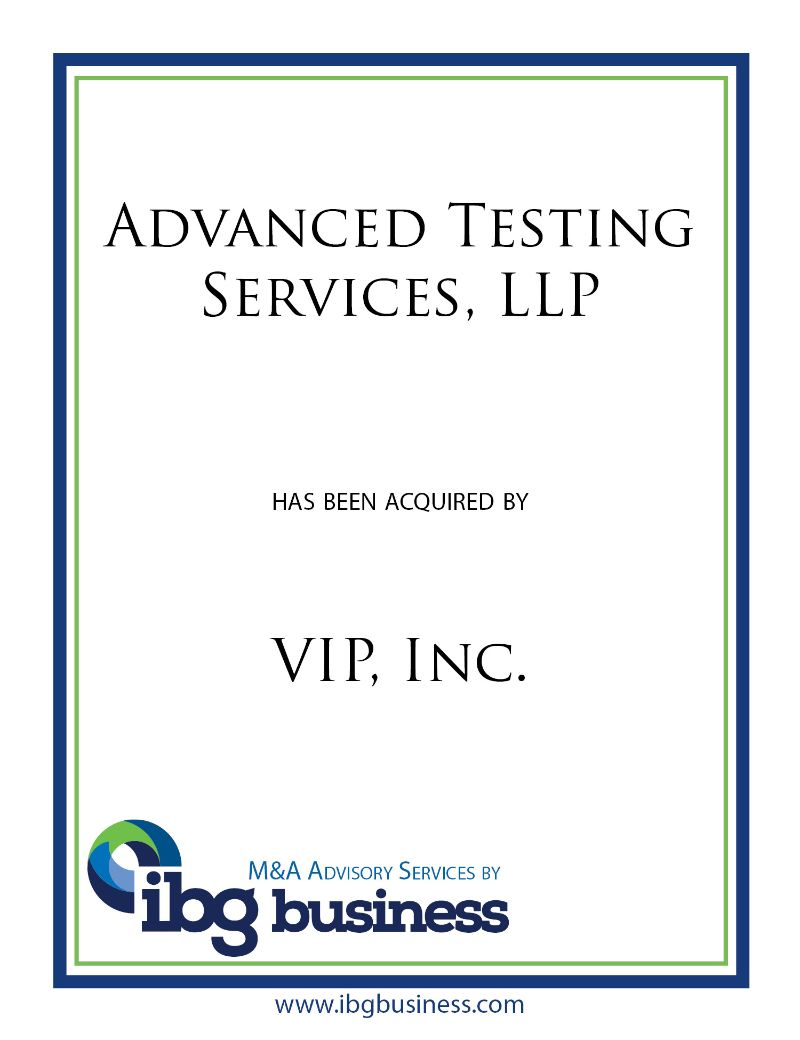 Advanced Testing Services LLP