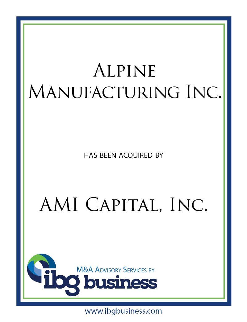 Alpine Manufacturing Inc