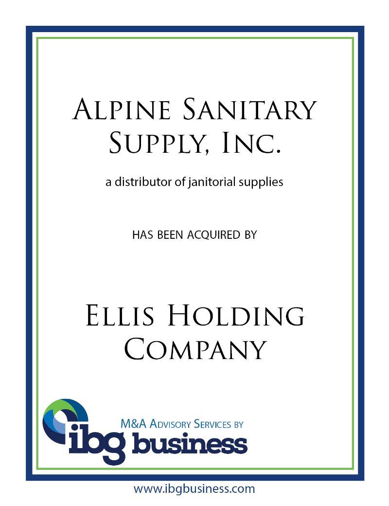 Alpine Sanitary Supply, Inc.