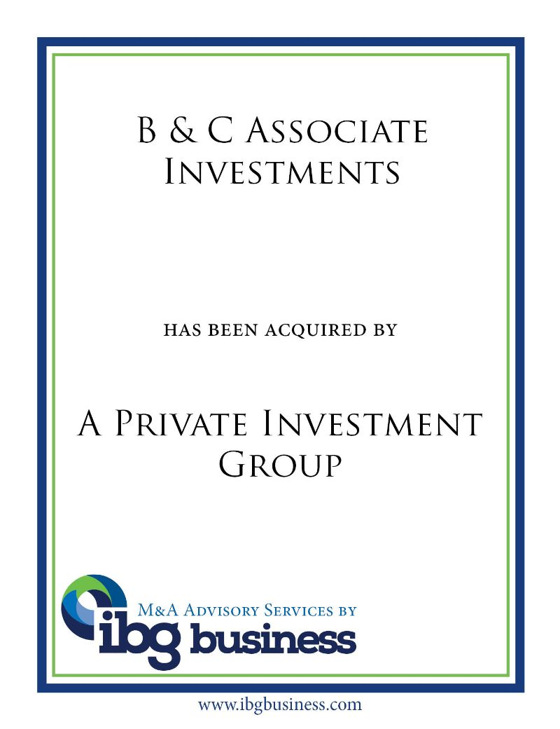 B & C Associate Investments
