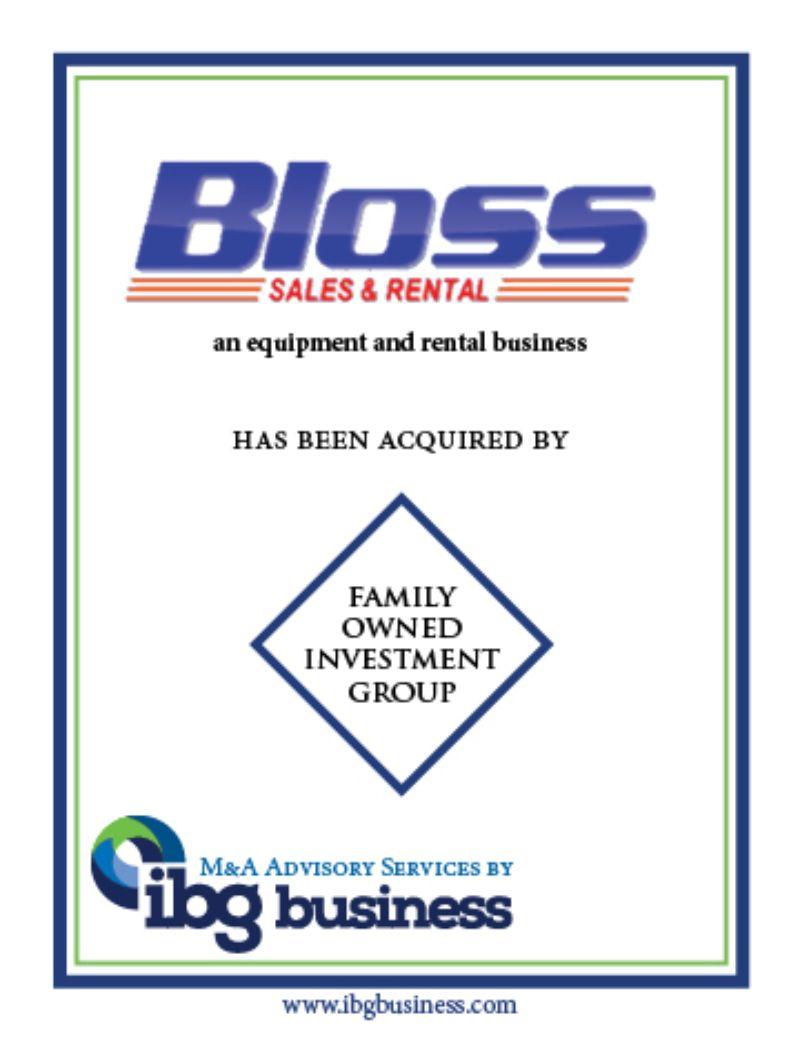 Bloss Sales & Rentals