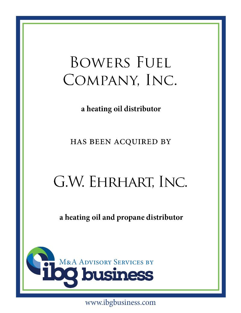Bowers Fuel Company, Inc.