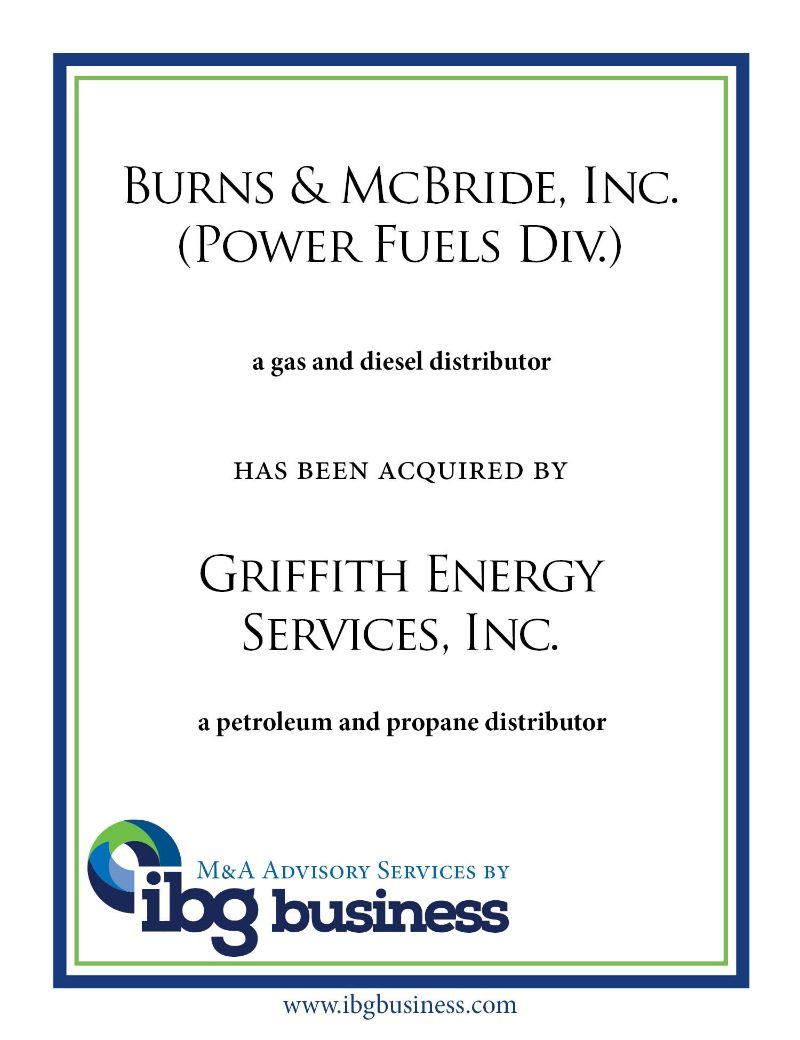 Burns & McBride, Inc. (Power Fuels Div.)