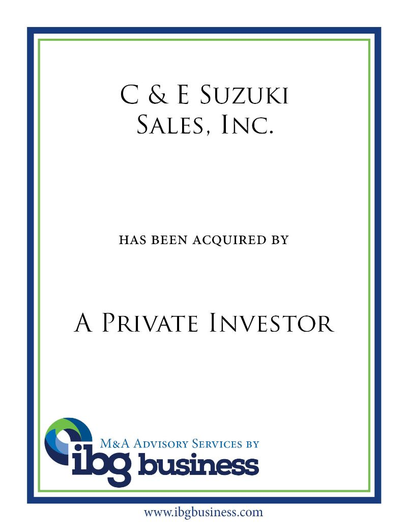 C & E Suzuki Sales, Inc.