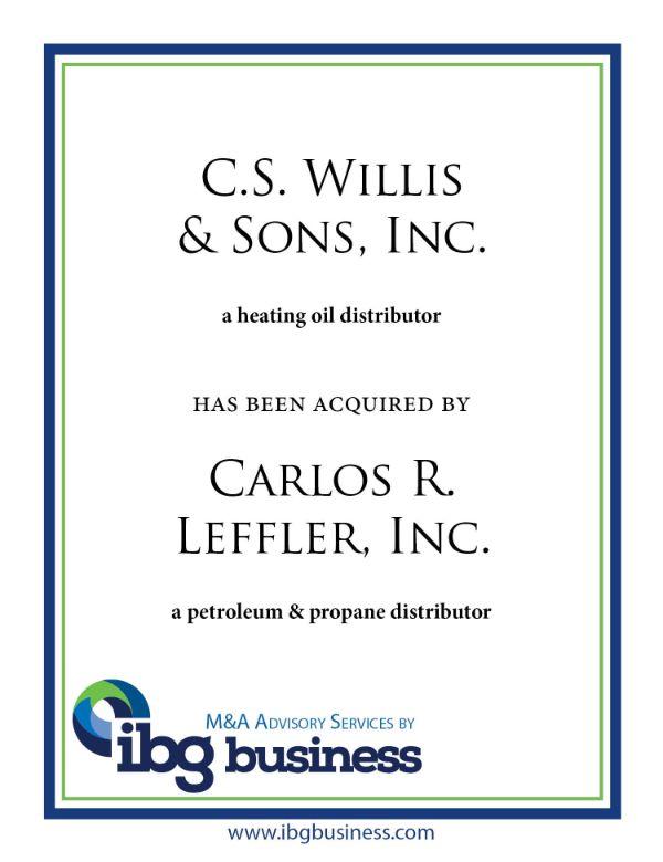 C. S. Willis & Sons, Inc.