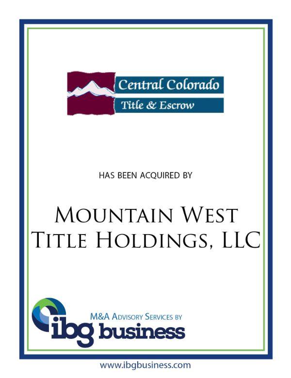 Central Colorado Title and Escrow
