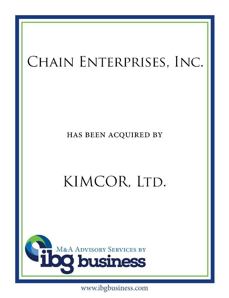 Chain Enterprises, Inc.
