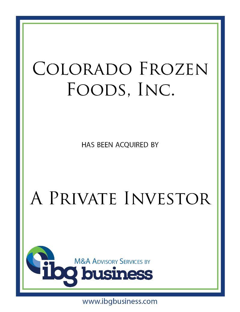 Colorado Frozen Foods, Inc.