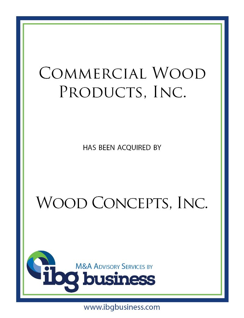 Commercial Wood Products, Inc.