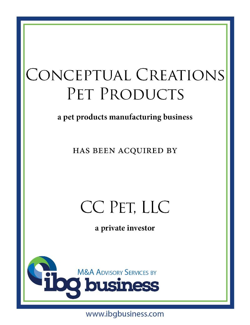 Conceptual Creations Pet Products
