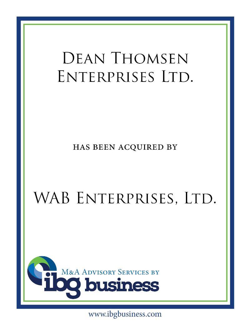 Dean Thomsen Enterprises Ltd.