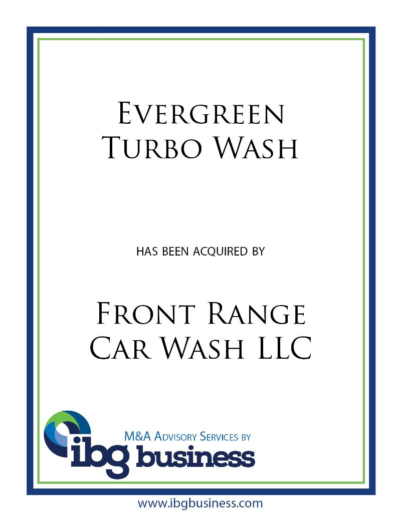 Evergreen Turbo Wash