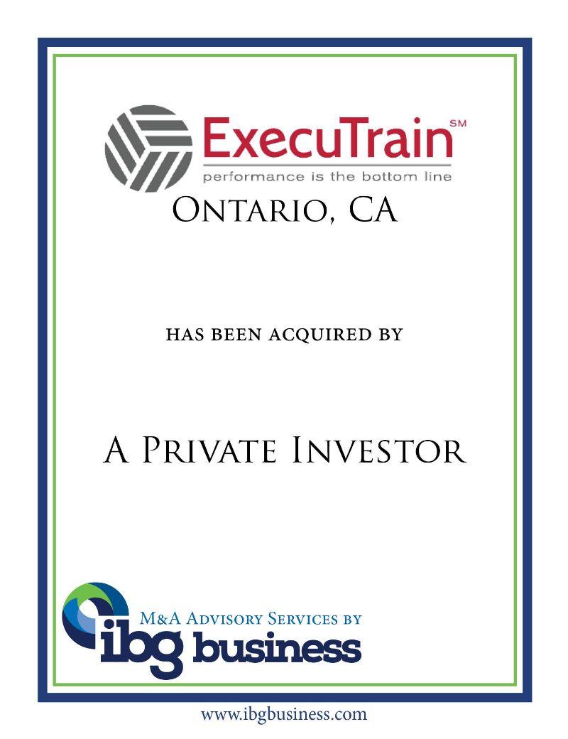 ExecuTrain, Inc. – Ontario, CA
