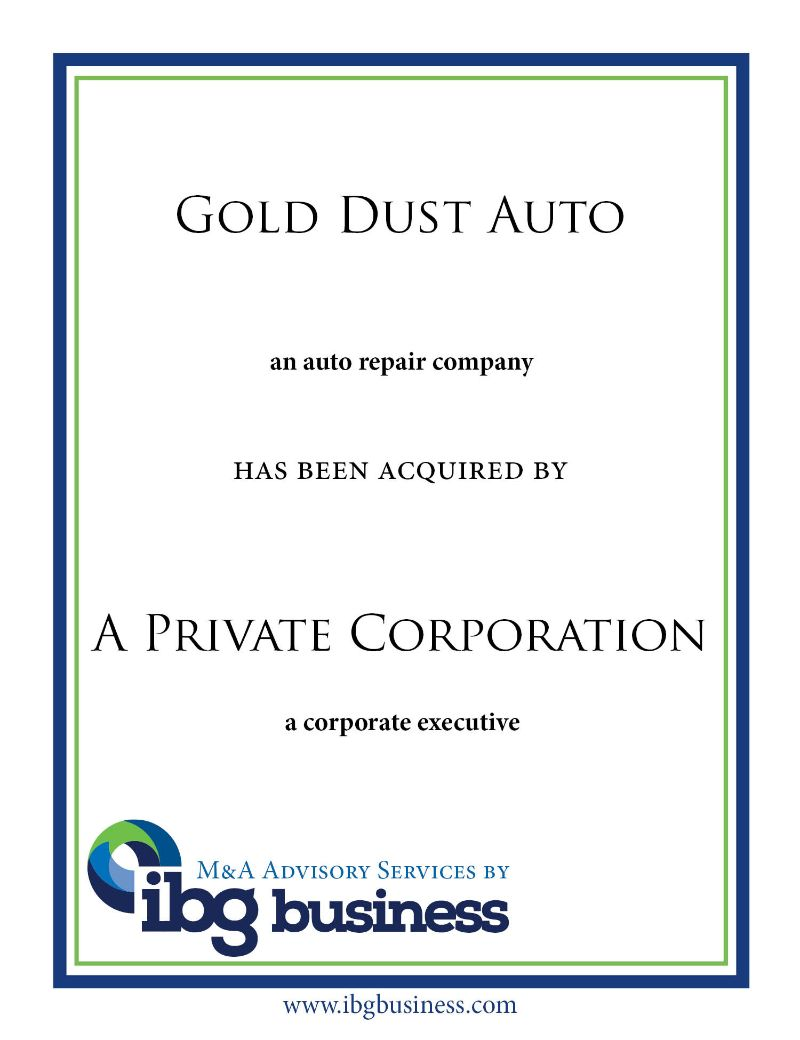 Gold Dust Auto