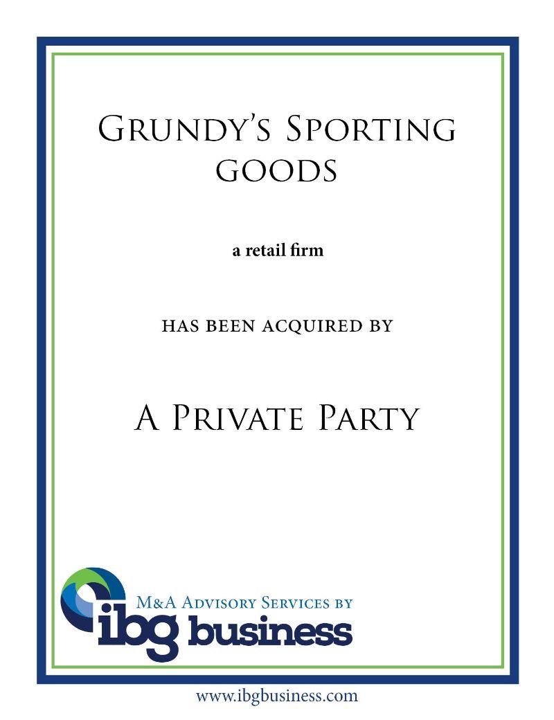 Grundy's Sporting Goods