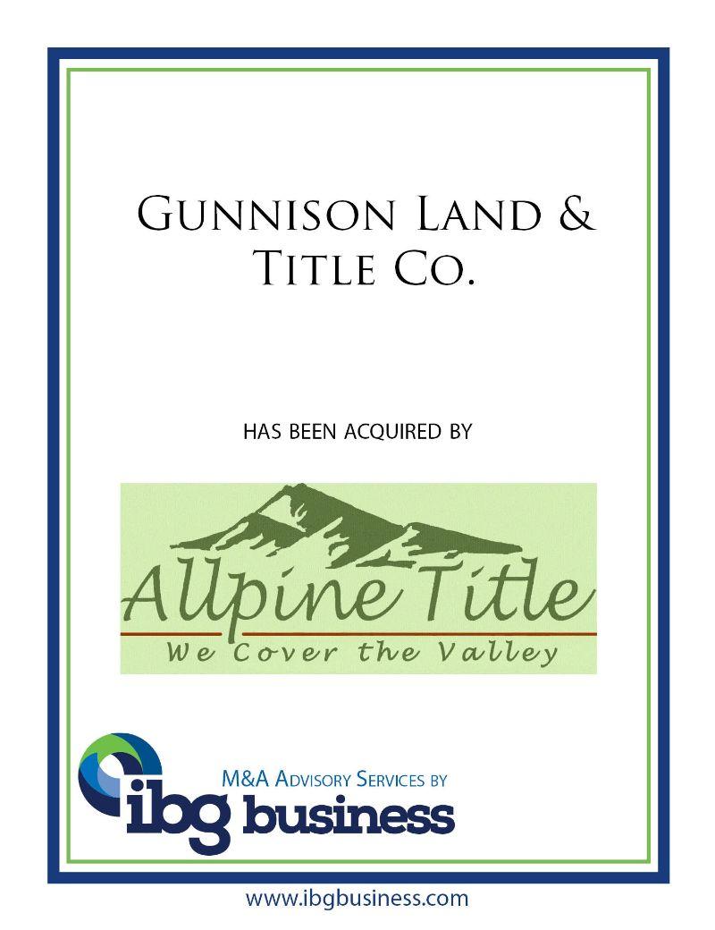 Gunnison Land & Title Co.