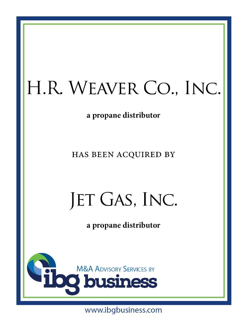 H.R. Weaver Co., Inc.