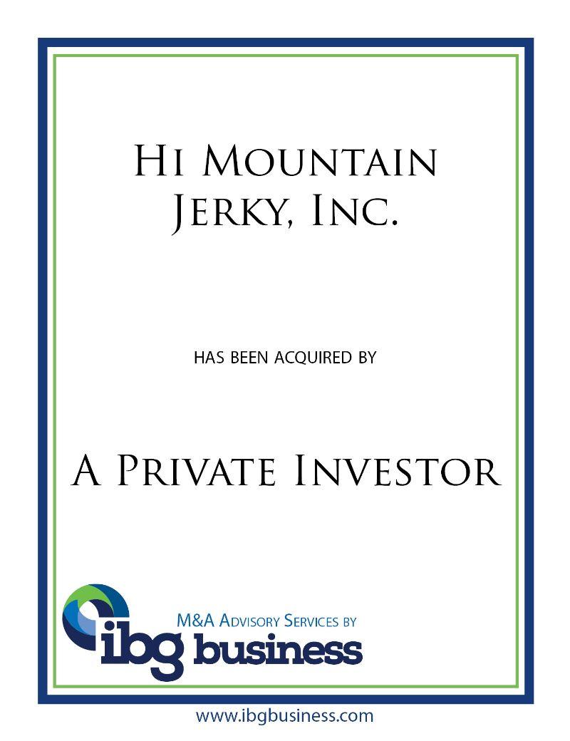 Hi Mountain Jerky, Inc.
