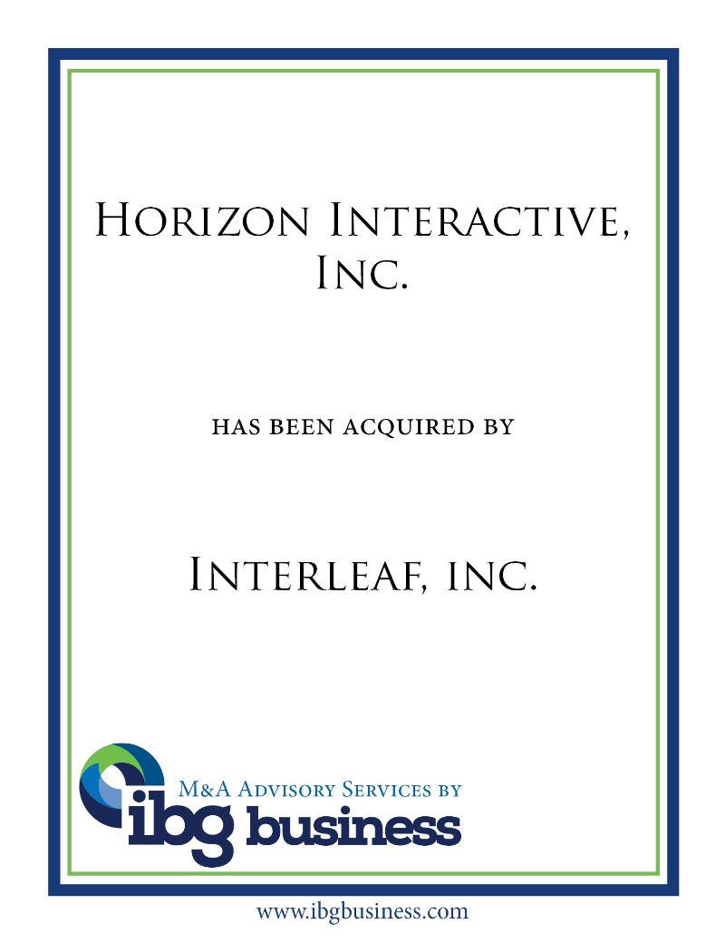 Horizon Interactive, Inc.