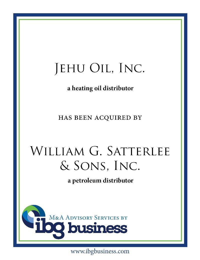 Jehu Oil, Inc.