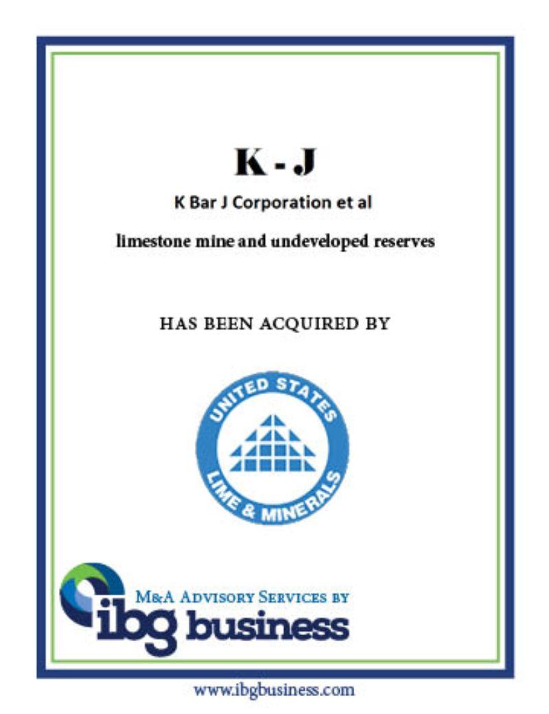 K Bar J Corporation et al