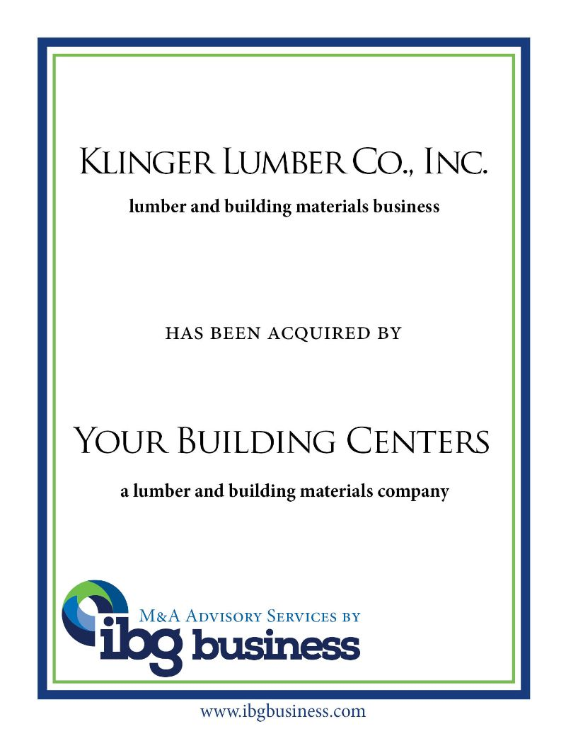 Klinger Lumber Co., Inc.