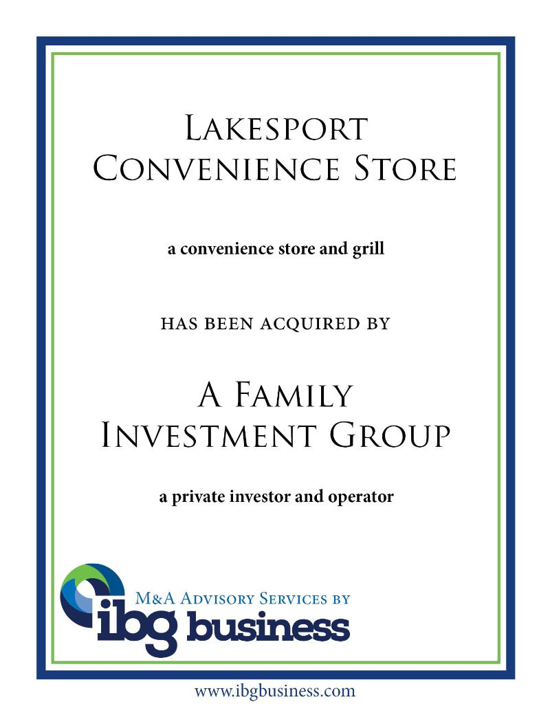 Lakesport Convenience Store