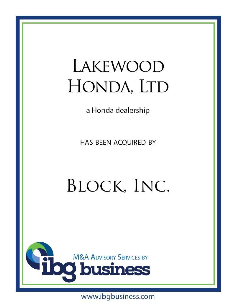 Lakewood Honda, Ltd.