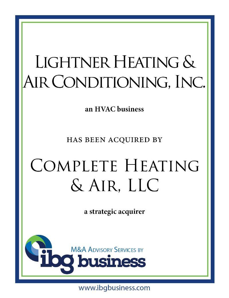 Lightner Heating & Air Conditioning, Inc.