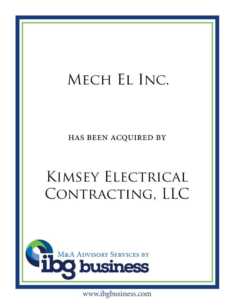 Mech El Inc.