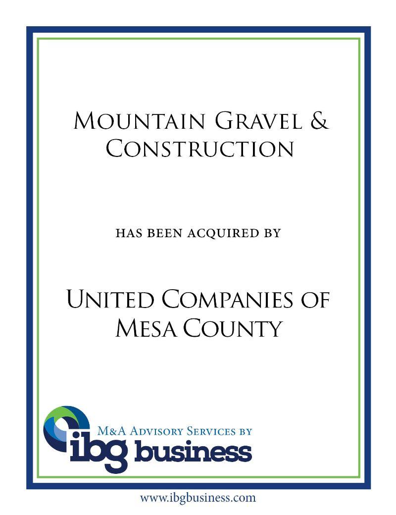 Mountain Gravel & Construction