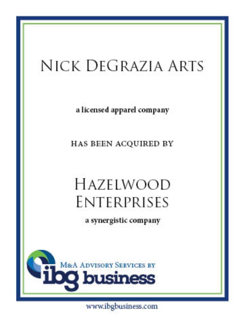 Nick DeGrazia Arts