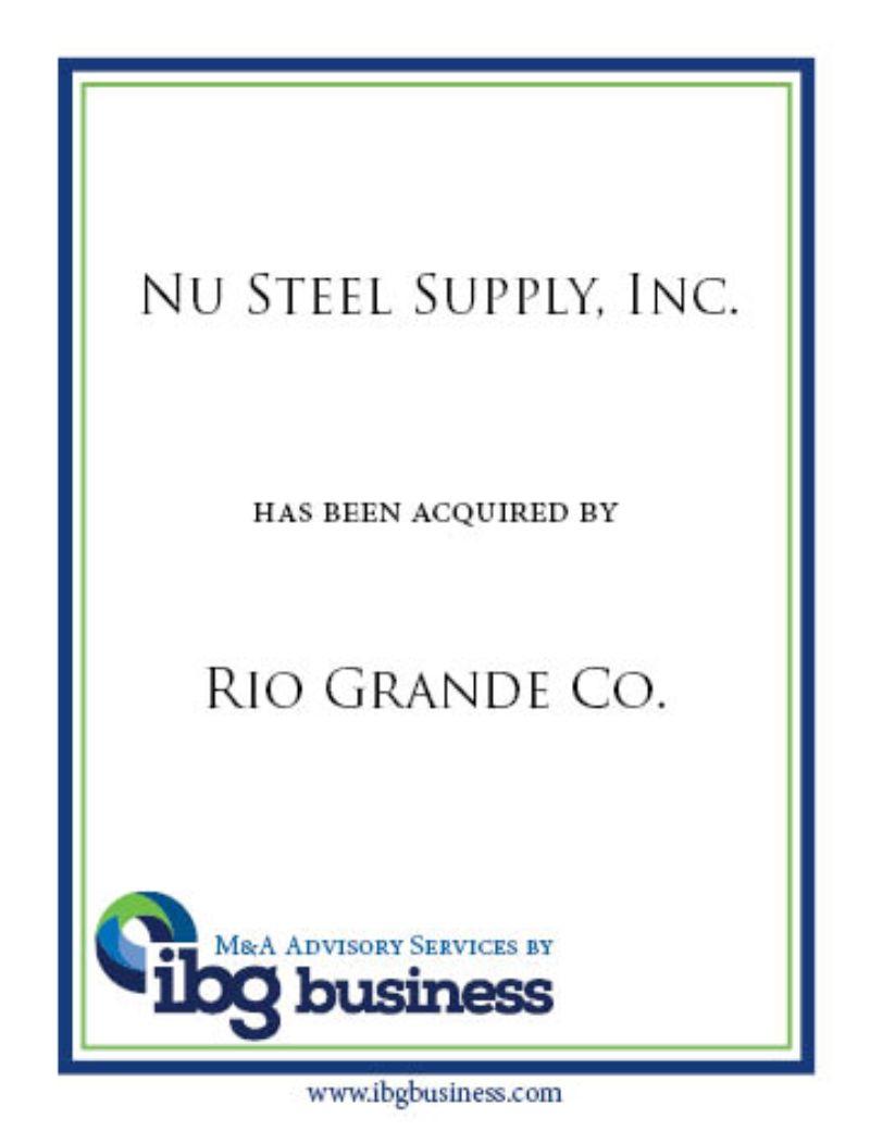 Nu Steel Supply, Inc.