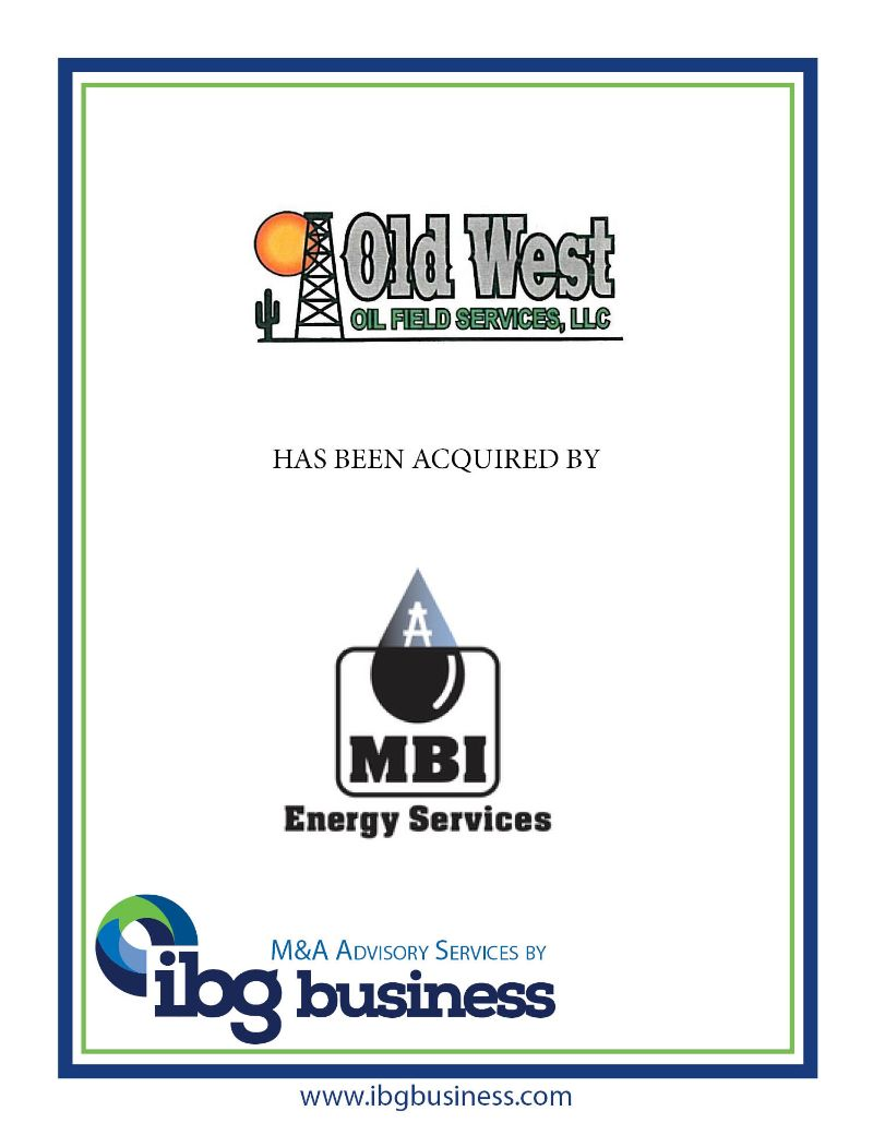 Old West Oil Field Services, LLC