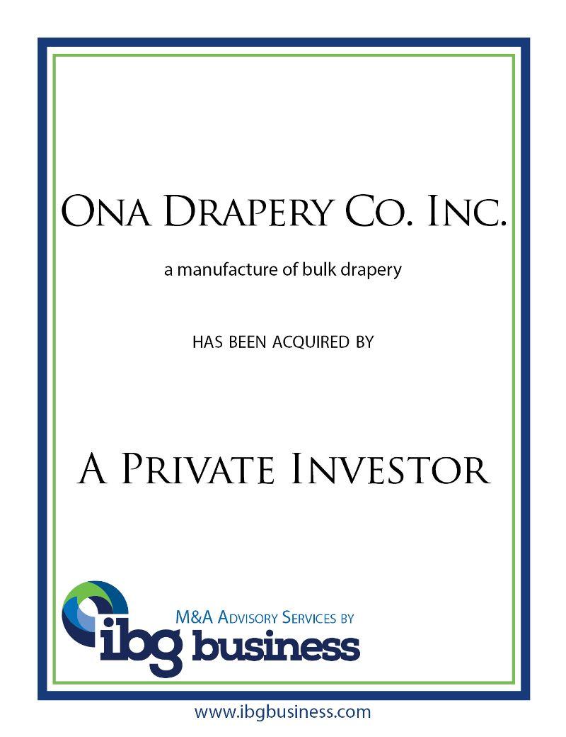 Ona Drapery Co. Inc.