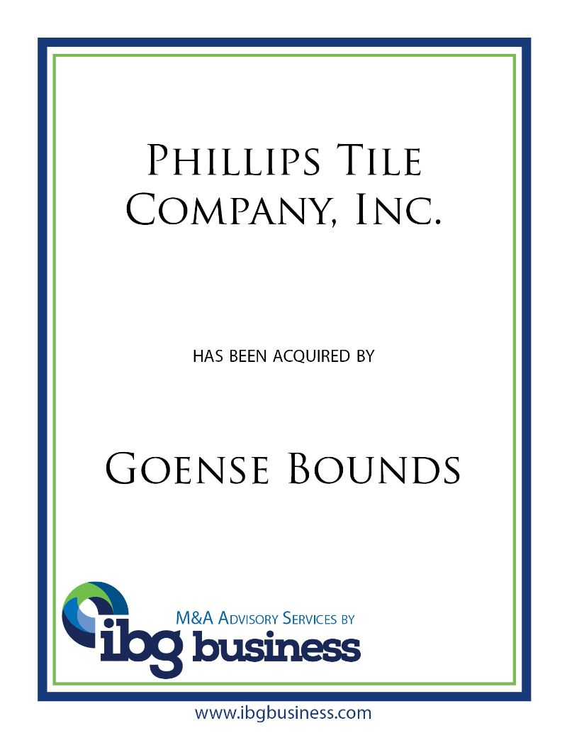 Phillips Tile Company, Inc.