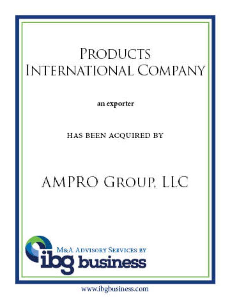 Products International Company