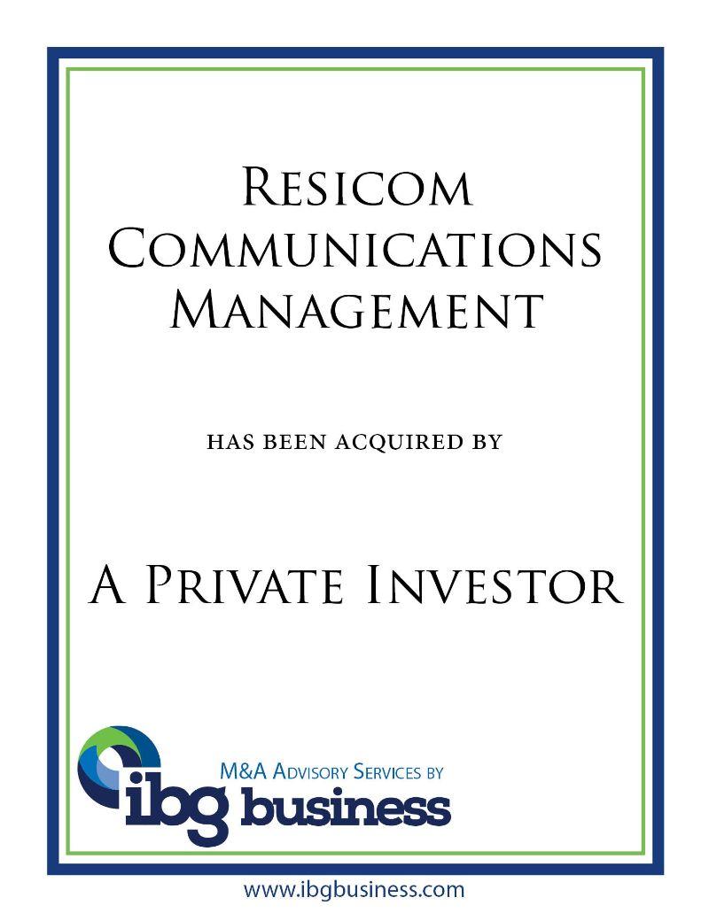 Resicom Communications Management