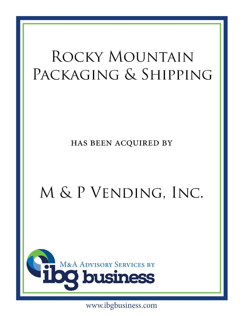 Rocky Mtn. Packaging & Shipping