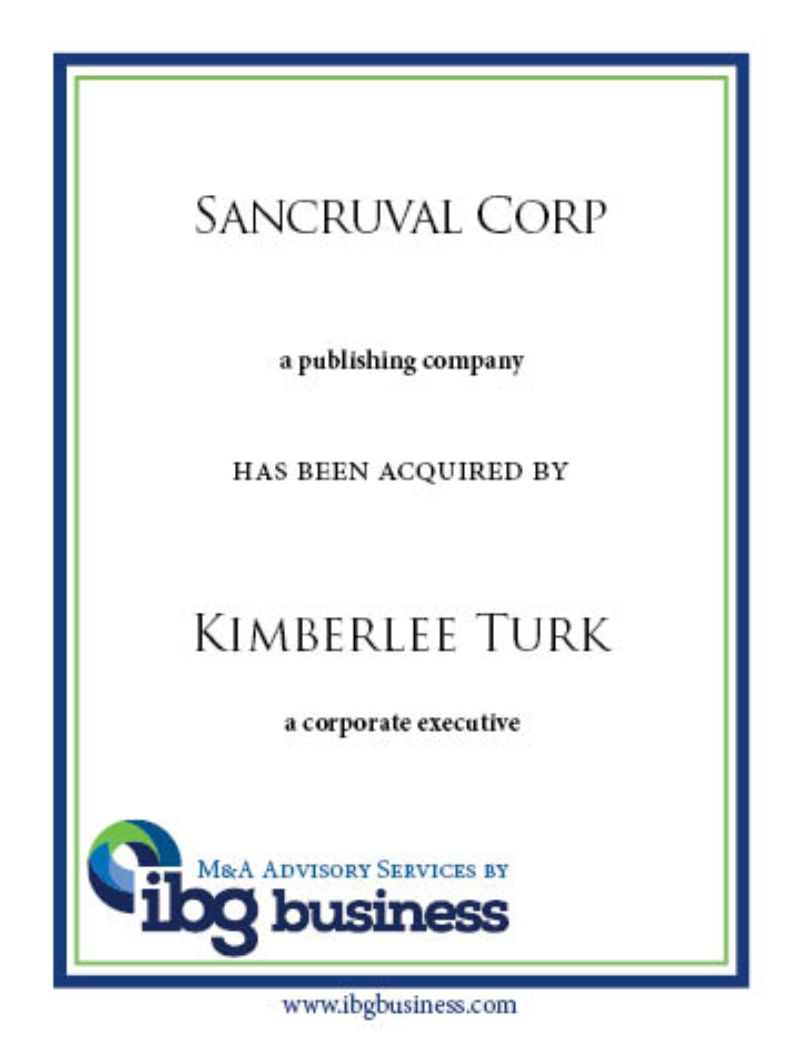 Sancruval Corp.
