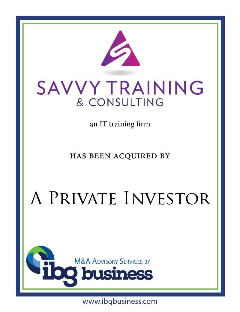 Savvy Training & Consulting, Inc.