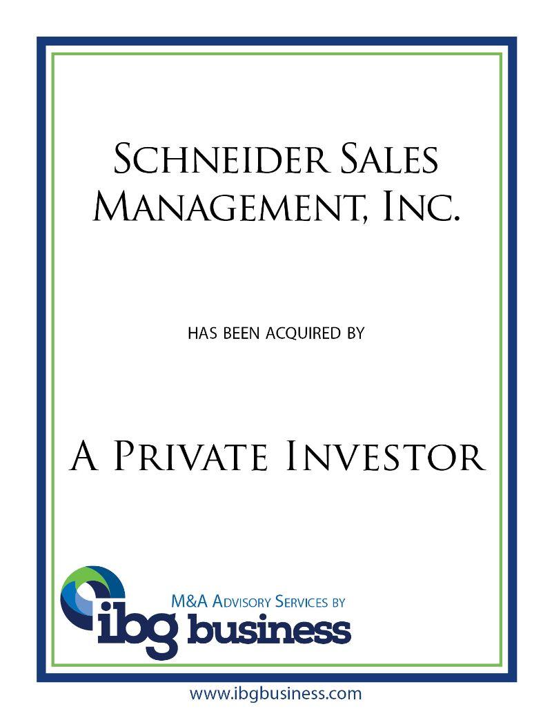 Schneider Sales Management, Inc.