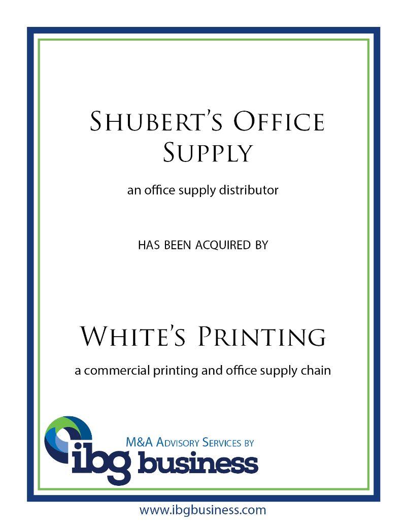 Shubert's Office Supply