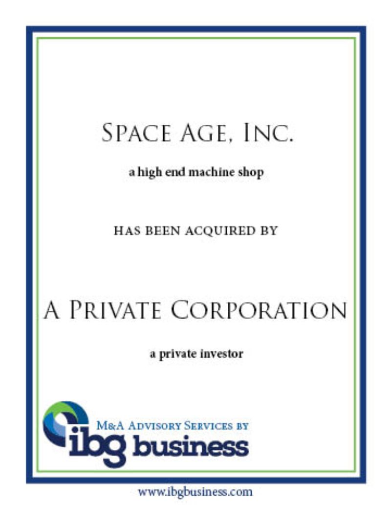 Space Age, Inc.