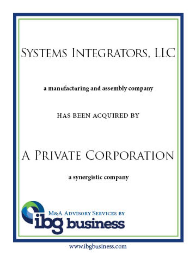 Systems Integrators, LLC