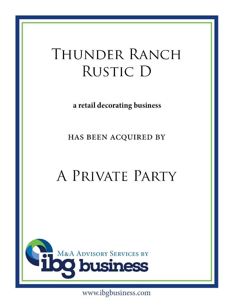 Thunder Ranch Rustic Décor
