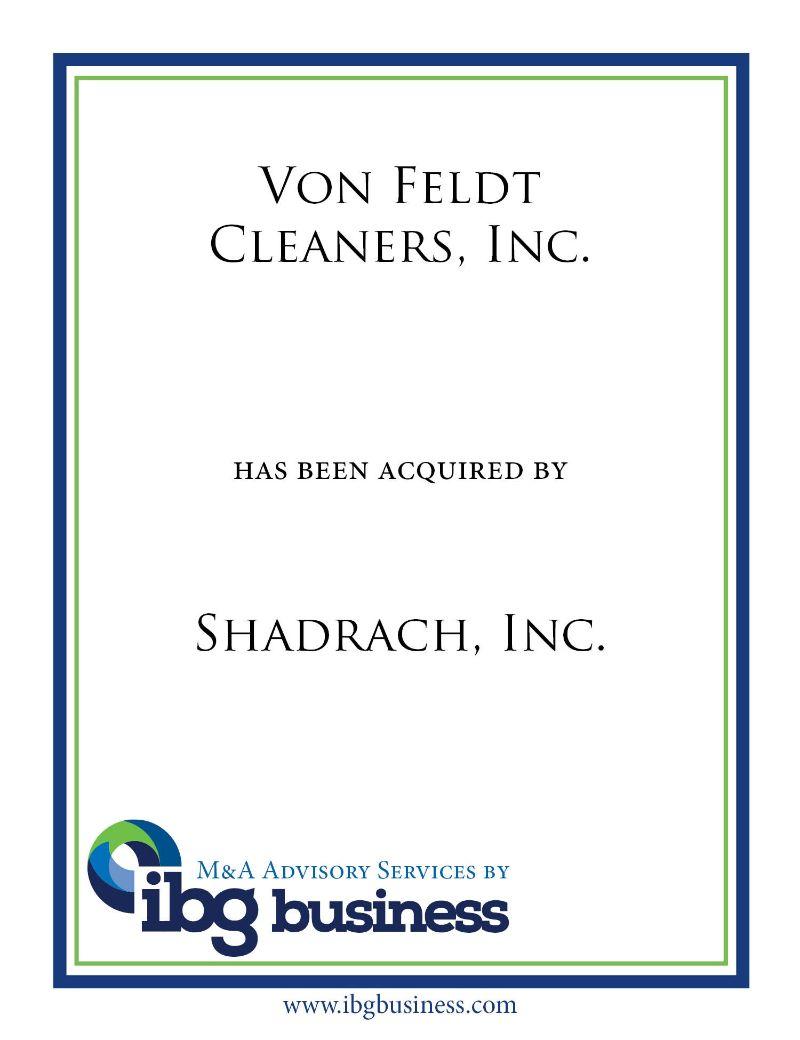 Von Feldt Cleaners, Inc.