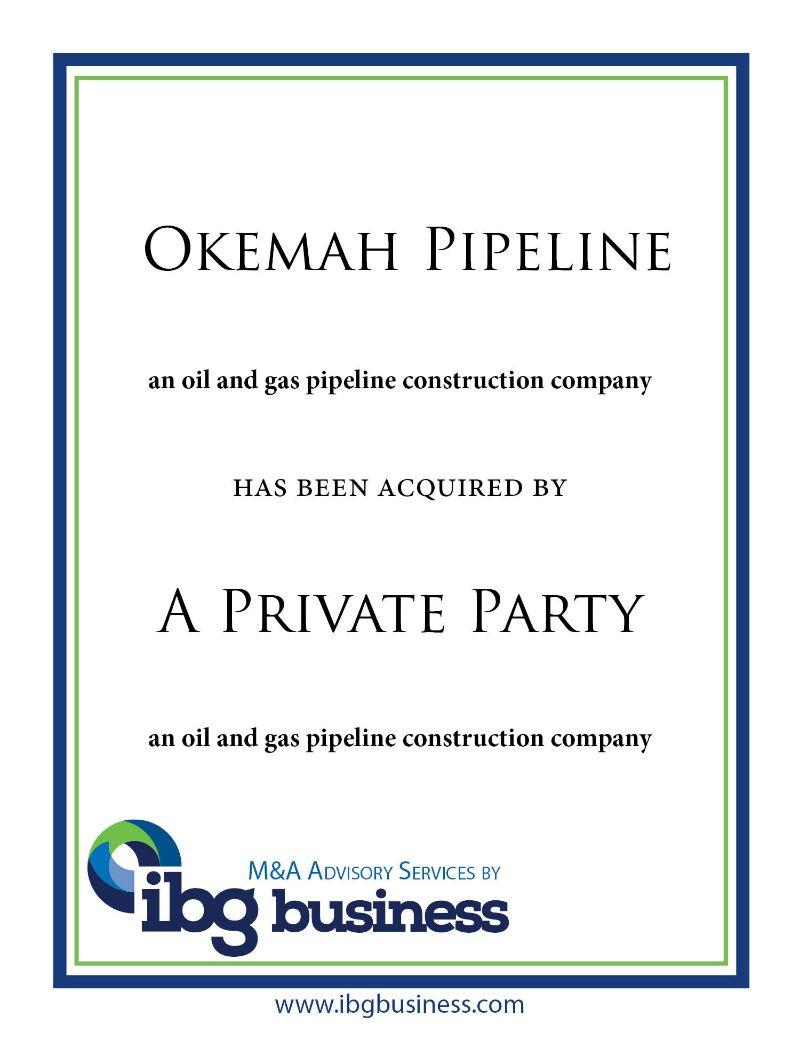 Okemah Pipeline Construction