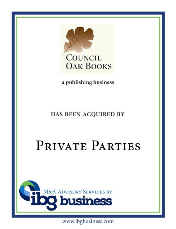 Council Oak Books